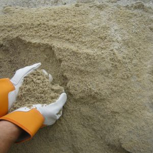 ashed concrete sand